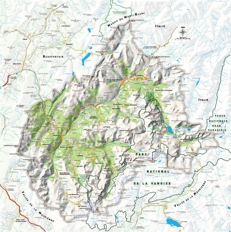 Carte tarentaise